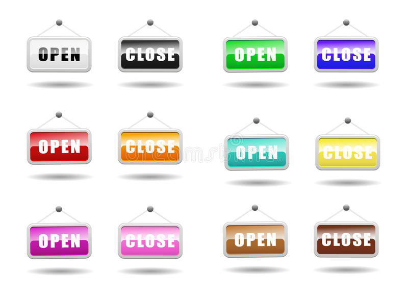 Download Open Close Sign stock vector. Illustration of customer - 25094369