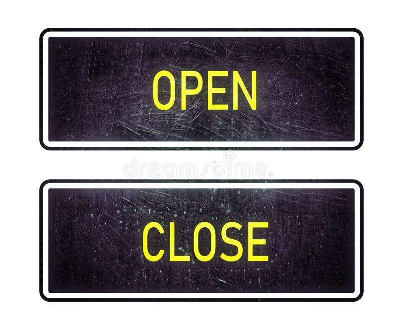 Open-close sign stock illustration
