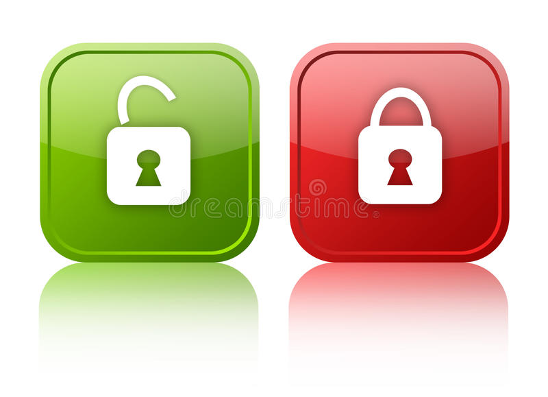 Download Open and closed buttons stock illustration. Illustration of granted - 20777000