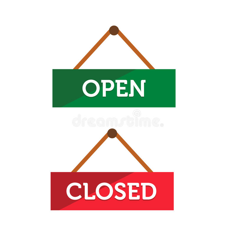 Download Open And Closed Door Sign Stock Image - Image: 32089711