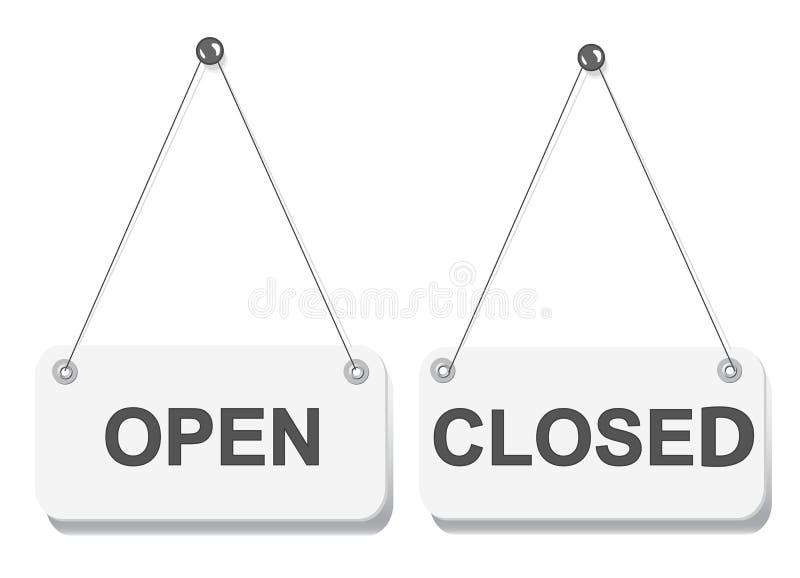 Download Open And Closed Door Signs Board Stock Illustration - Illustration of design frame  sc 1 st  Dreamstime.com & Open And Closed Door Signs Board Stock Illustration - Illustration ...