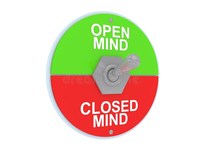 Open And Closed Mind Switch Royalty Free Stock Photo