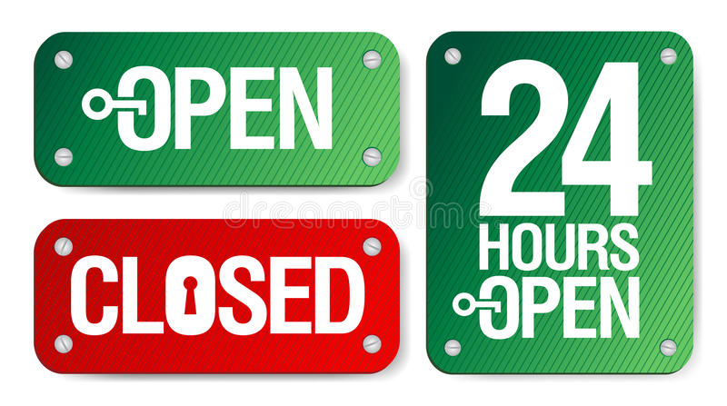 Open and Closed Signs royalty free illustration