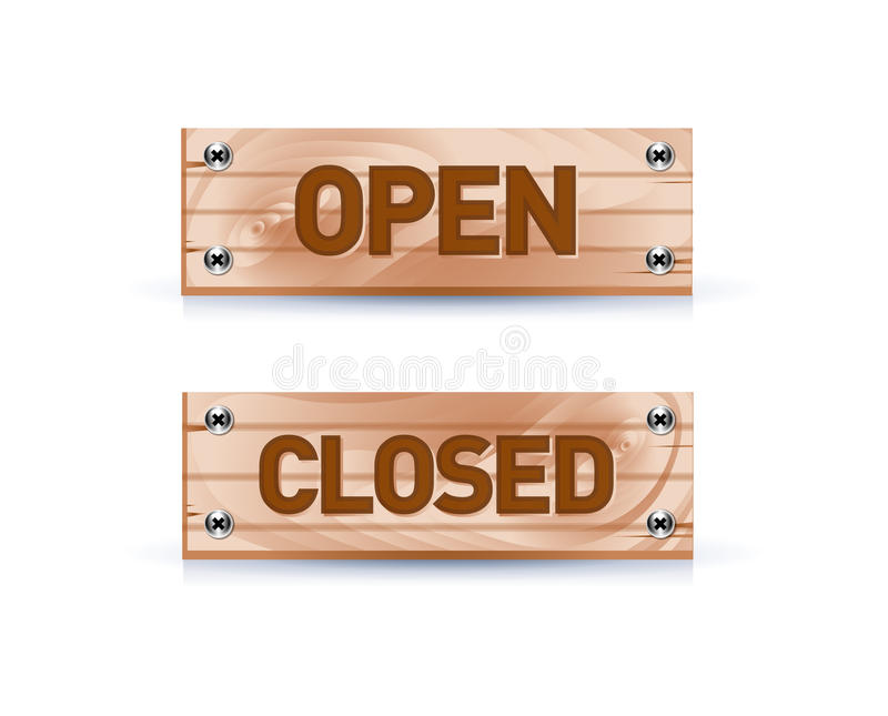 Open And Closed Signs Royalty Free Stock Photos