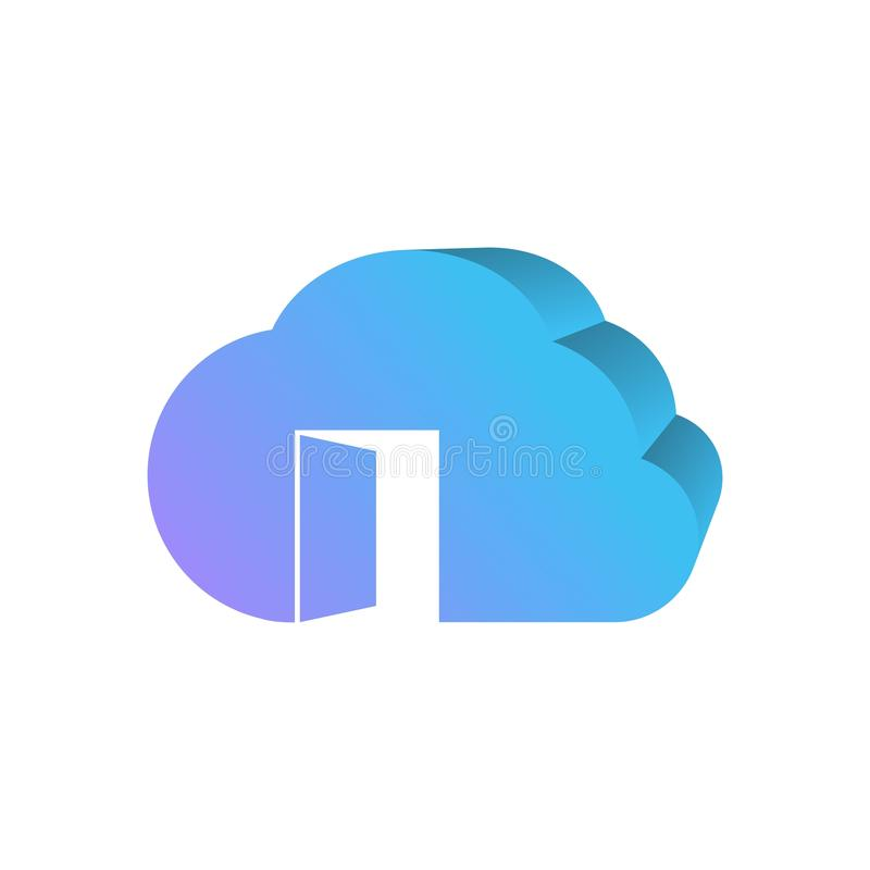 Open cloud 3d logo design. Amazing design for your company or brand simple and modern 3d stock illustration
