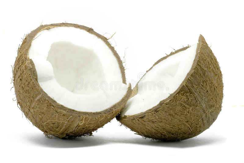 Download Open Coconut Isolated On White Stock Photography - Image: 2600162