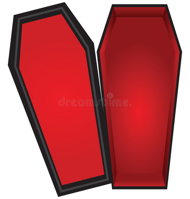 Open coffin royalty free illustration