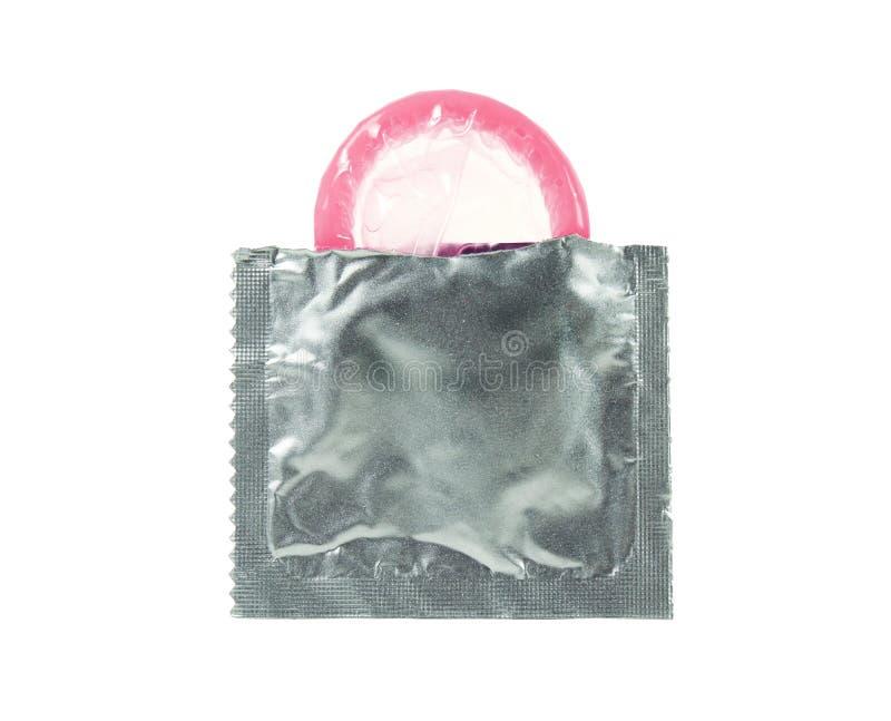 Open condoom royalty-vrije stock afbeelding