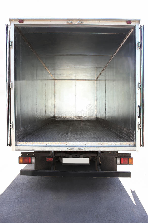 Open container of the truck royalty free stock photo