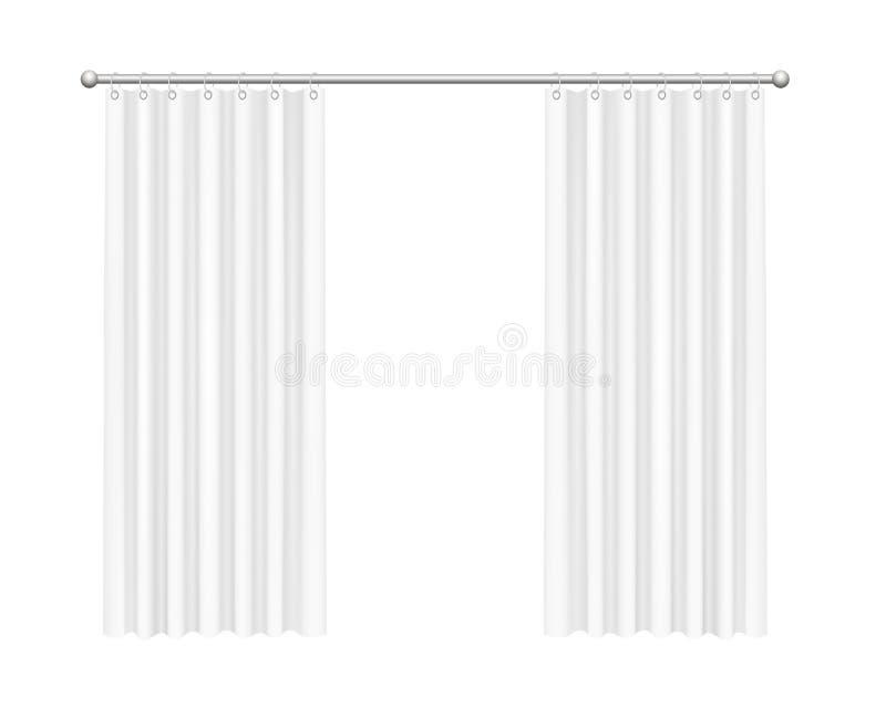 Open curtains stock illustration
