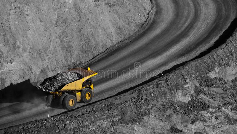 Open cut mine. stock photography