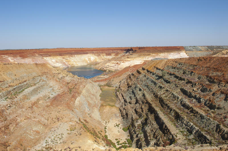 Open Cut Mining Pit Australia royalty free stock images