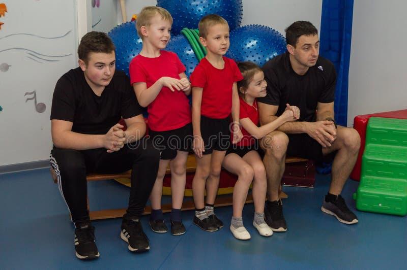 Open dag in de kleuterschool van Kaluga-gebied van Rusland stock afbeeldingen