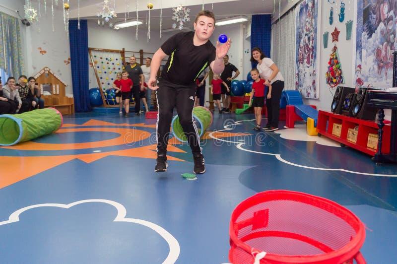 Open dag in de kleuterschool van Kaluga-gebied van Rusland royalty-vrije stock afbeelding