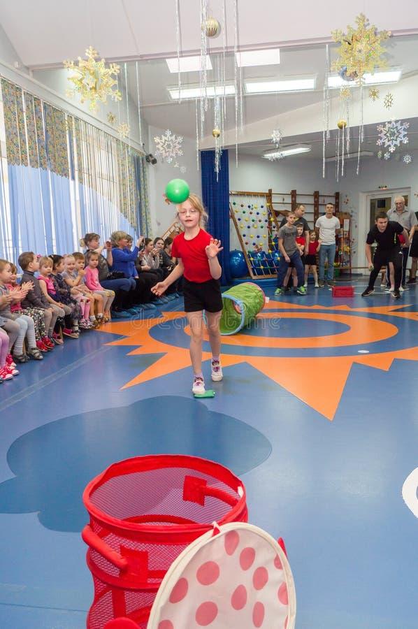 Open dag in de kleuterschool van Kaluga-gebied van Rusland royalty-vrije stock foto's