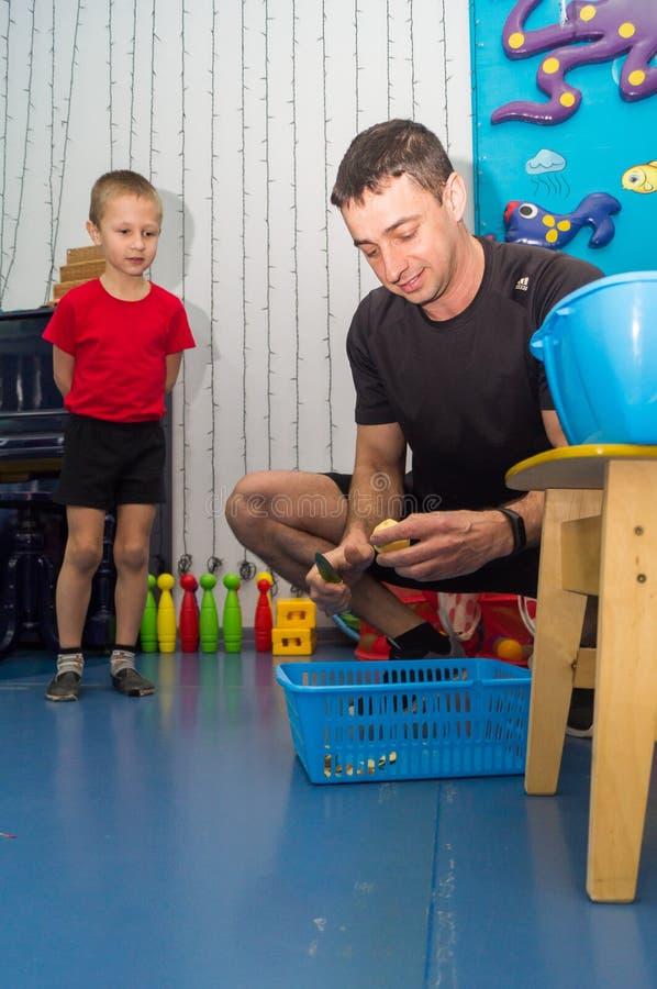 Open dag in de kleuterschool van Kaluga-gebied van Rusland stock foto
