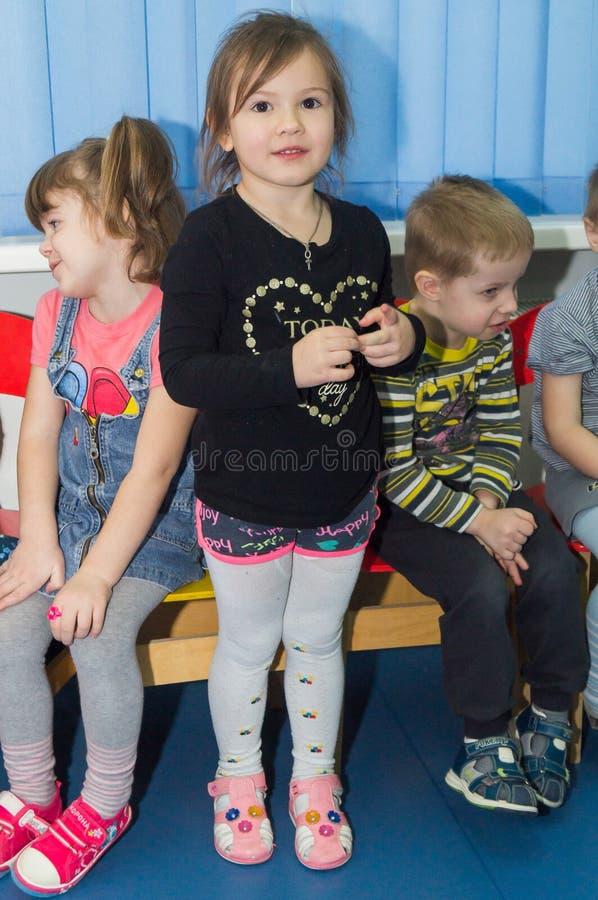 Open dag in de kleuterschool van Kaluga-gebied van Rusland royalty-vrije stock afbeeldingen