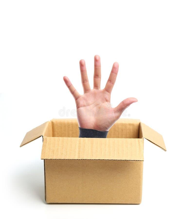 Open deel van doos uit royalty-vrije stock afbeelding