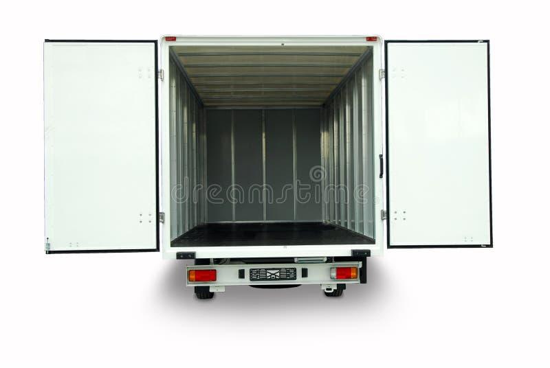 Open delivery van stock photo