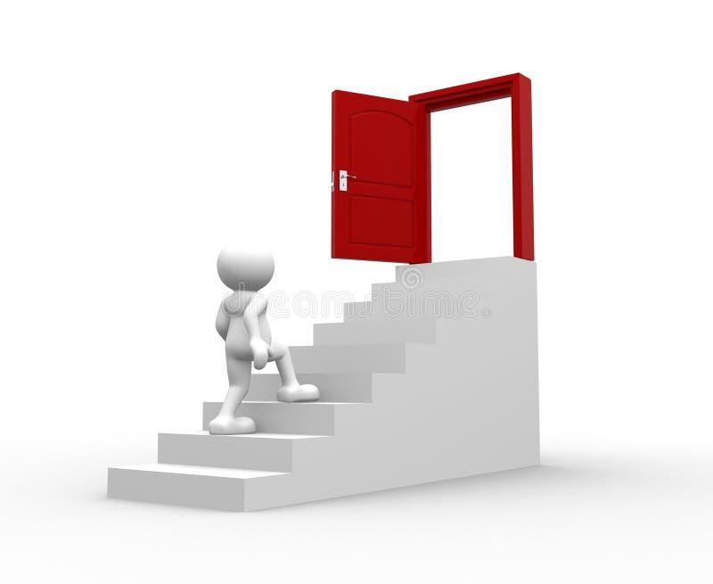 Open deur vector illustratie