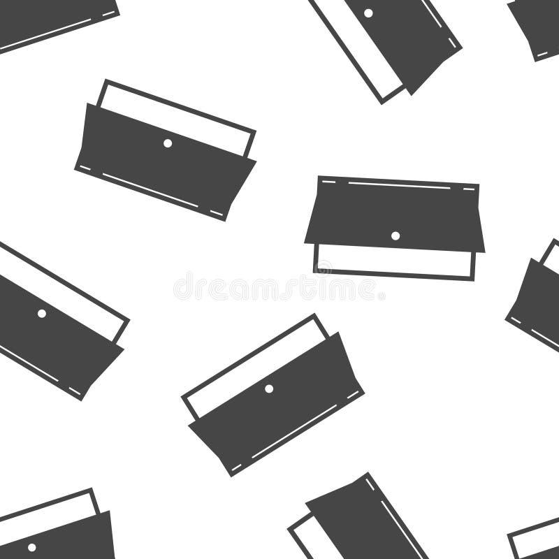 Open deur vectorpictogram Pictogram die ruimte op ingang of uitgangs naadloos patroon op een witte achtergrond wijzen royalty-vrije illustratie
