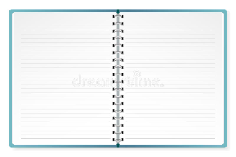 Open Diary. Illustration of open diary on isolated white background stock illustration