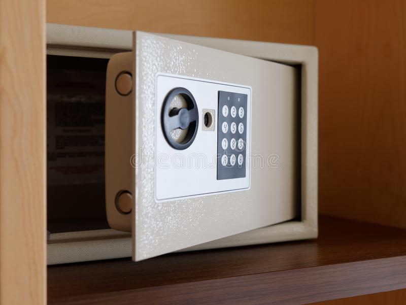 Download Open Digital Key Unlocked Safe Box Stock Photo - Image of business, security: 118653046