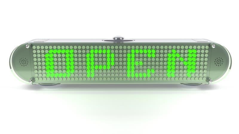 Download OPEN - Digital Pin Sign With Emitting LED Light Stock Illustration - Image: 31888696