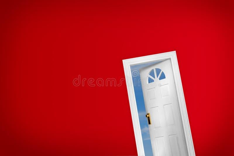 Open dooor stock image