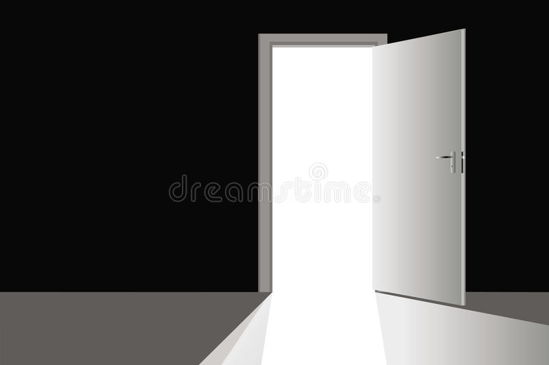 Open door. With very bright entrance for your project vector illustration