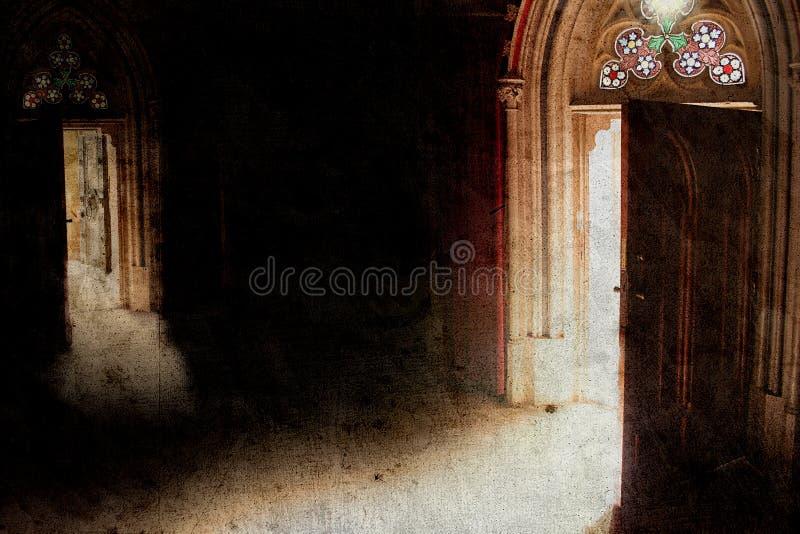 Open door royalty free illustration