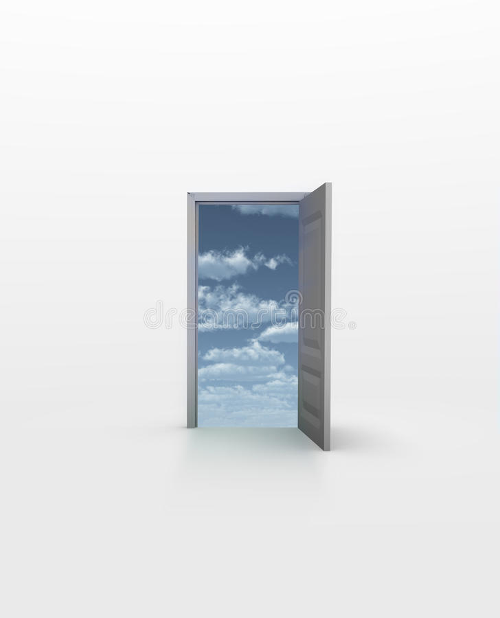 Download Open Door stock illustration. Image of concept, house - 27649297