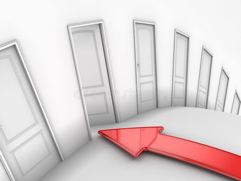 Download The Open Door stock illustration. Image of exit, innovation - 5218118