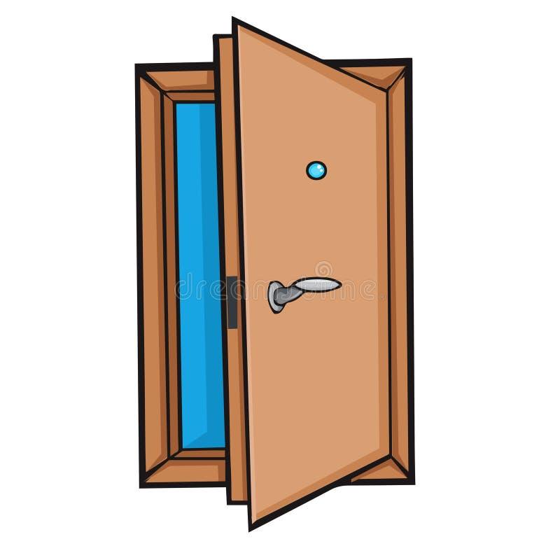 Free Open Door. Cartoon Style. Stock Photography - 40473222