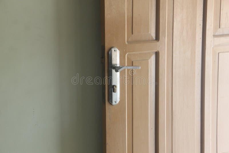 Open door, door handles and a wall royalty free stock photos