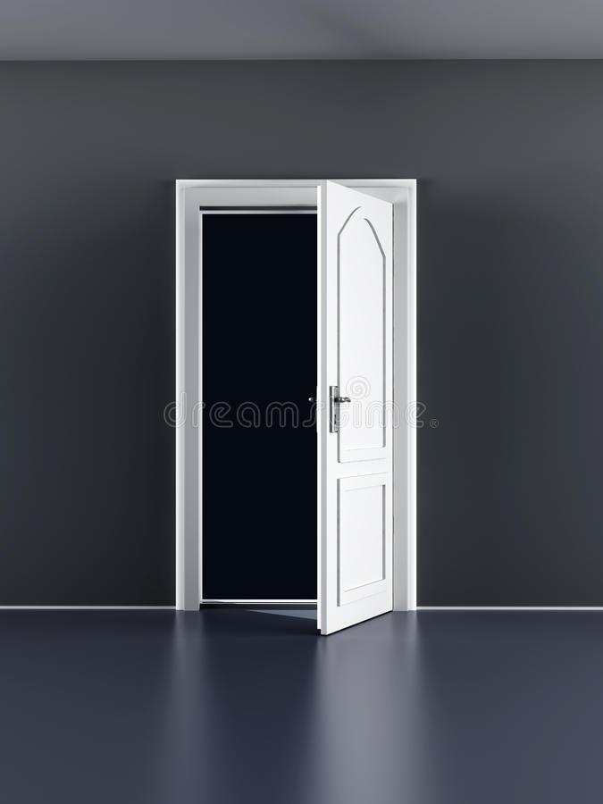 Download Open Door stock illustration. Image of house, enter, background - 32311901