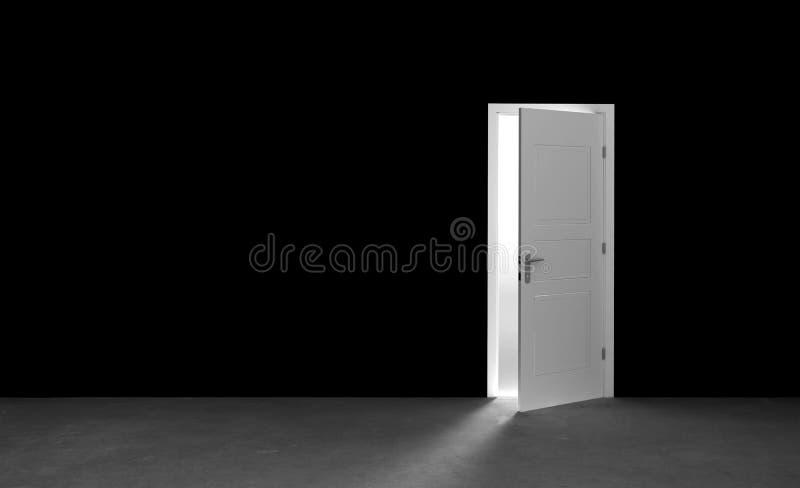 Download Open door in a empty room stock illustration. Illustration of enter - 83717180
