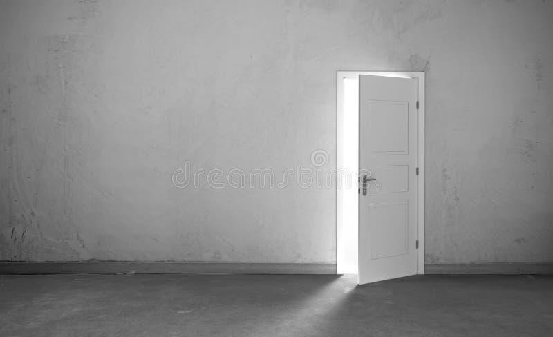 Download Open Door In A Empty Room Stock Illustration - Image: 83718151