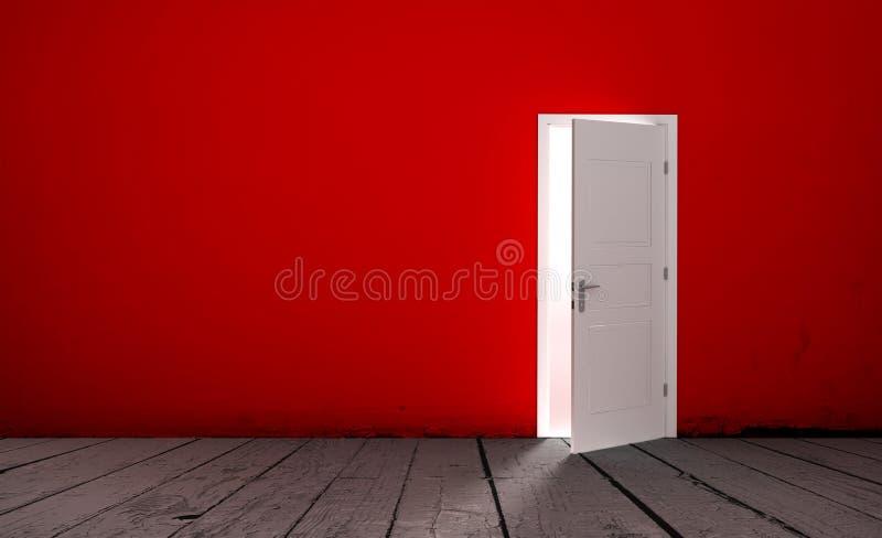 Download Open Door In A Empty Room Stock Illustration - Image: 83717149