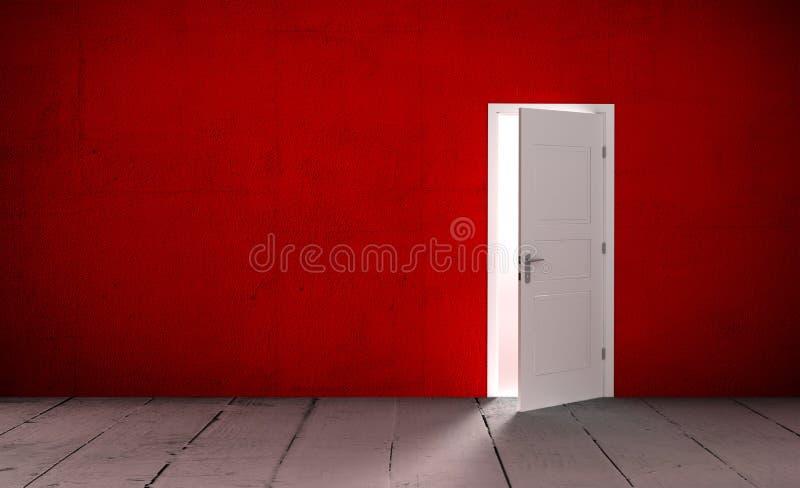 Download Open door in a empty room stock illustration. Image of handle - 83717155