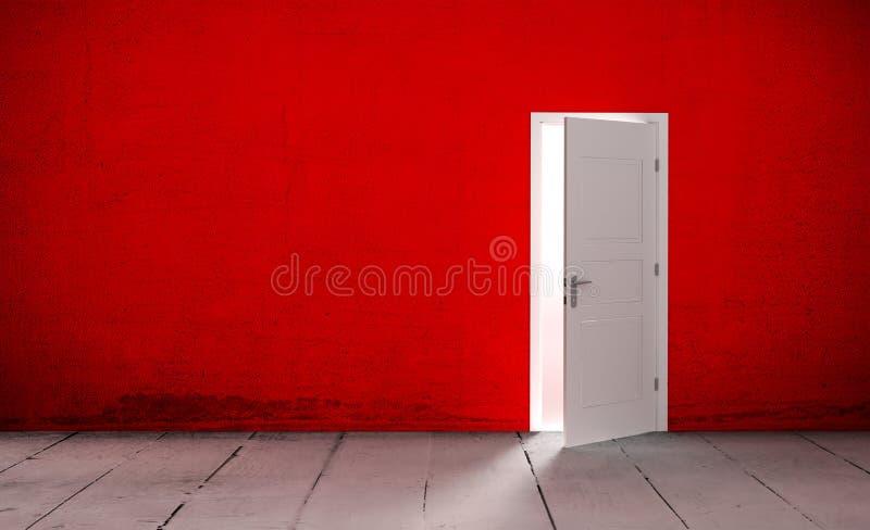 Download Open Door In A Empty Room Stock Illustration - Image: 83717192
