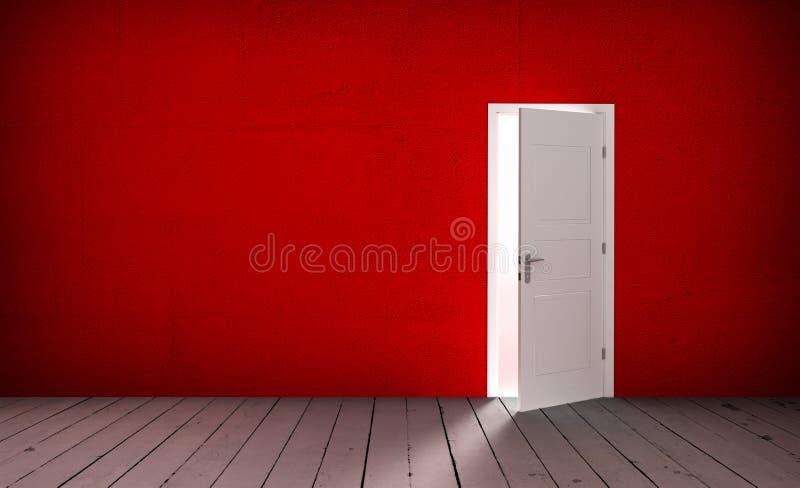 Download Open door in a empty room stock illustration. Illustration of door - 83717776
