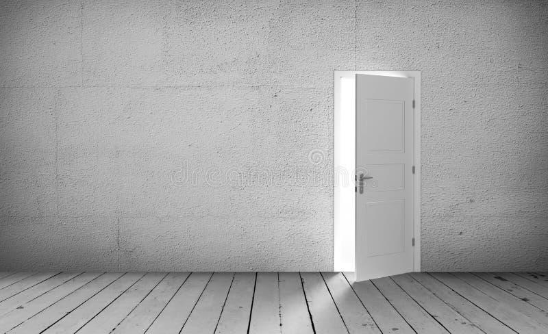 Download Open door in a empty room stock illustration. Illustration of empty - 83718085