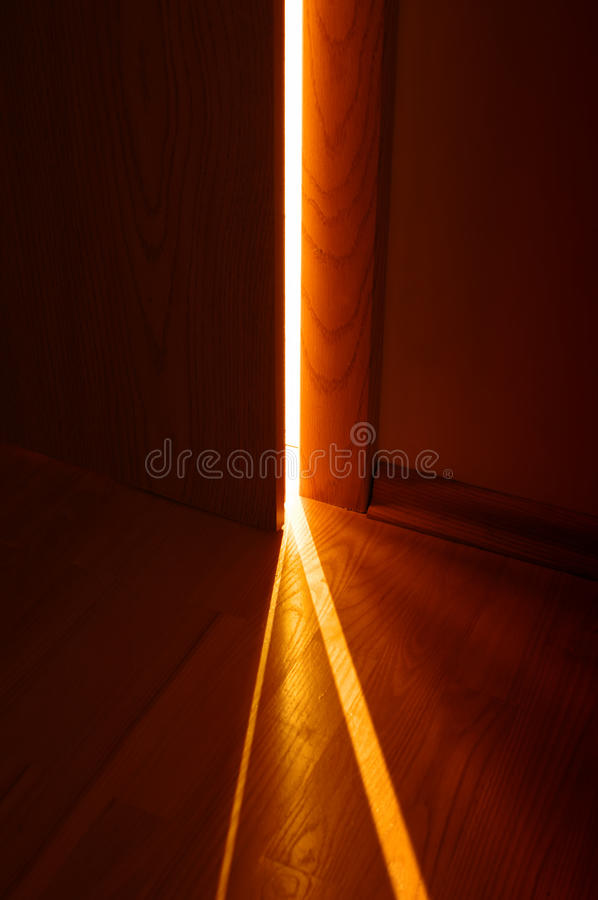 Open Door And Light Royalty Free Stock Image
