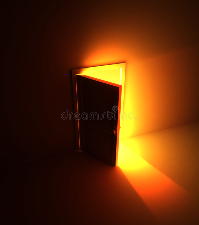 Download Open Door Light Stock Photography - Image: 6011002