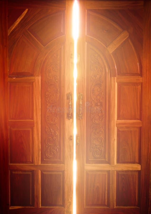 Open The Door Light Stock Image Dark Indoor