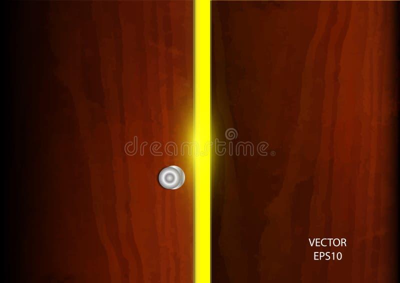 Open door light vector background. General illustration royalty free illustration