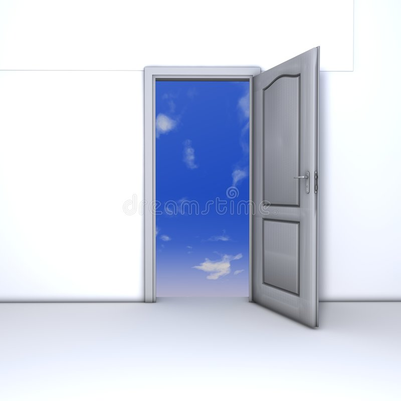 Download The Open Door Of Opportunity Stock Illustration - Illustration of exit, outside: 8977161