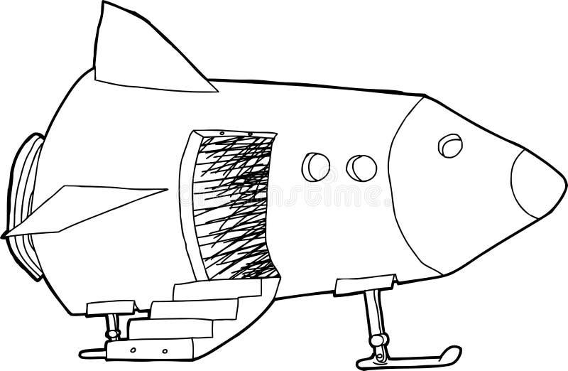 Open Door In Spaceship Stock Vector. Illustration Of