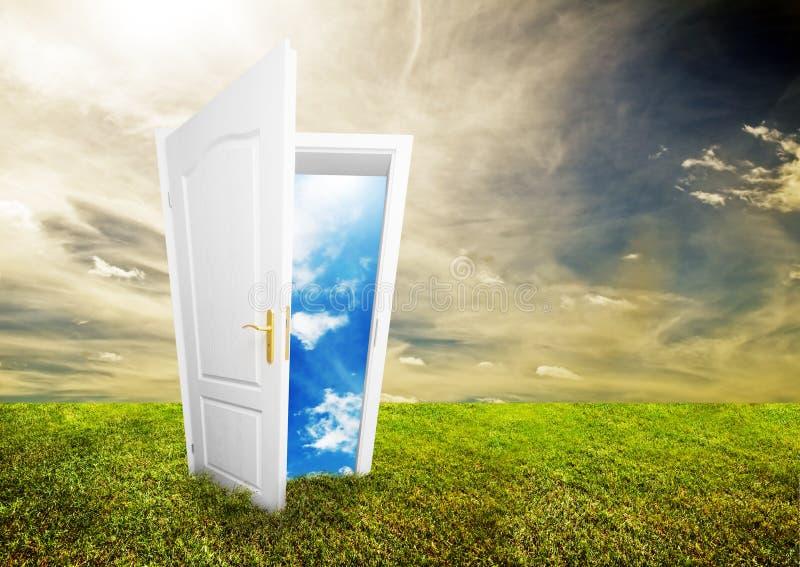 Open door to new life stock images